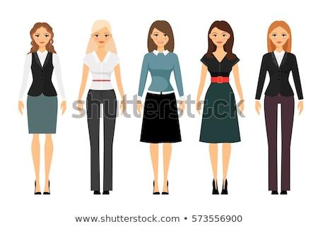 Elegáns üzletasszony hivatalos visel vektor lány Stock fotó © robuart