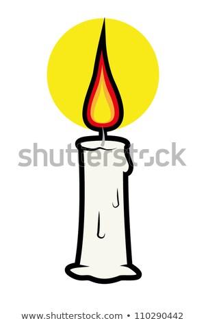 Traurig Karikatur Kerze Illustration schauen Flamme Stock foto © cthoman