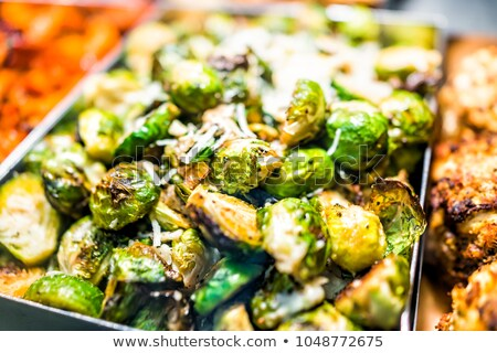 crispy roasted brussels sprout Stock photo © zkruger