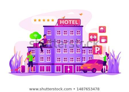 Hotel gente de negocios todo servicios wifi lujo Foto stock © RAStudio