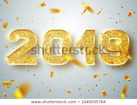 colorful 2019 in 3d style with confetti Stock photo © SArts