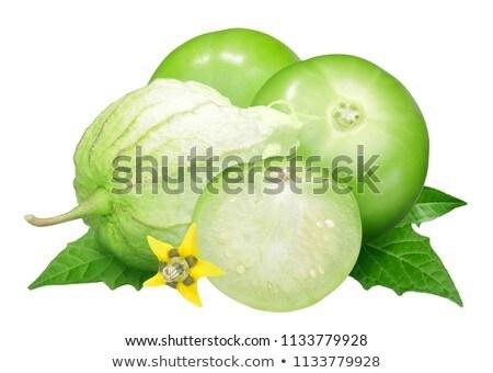Groene vruchten eigen schaduwen vruchten tomaat Stockfoto © maxsol7