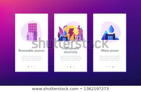 App interfejs szablon inżynierowie pracy objętych Zdjęcia stock © RAStudio