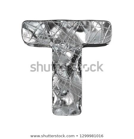 Grunge alluminio carattere lettera 3D rendering 3d Foto d'archivio © djmilic