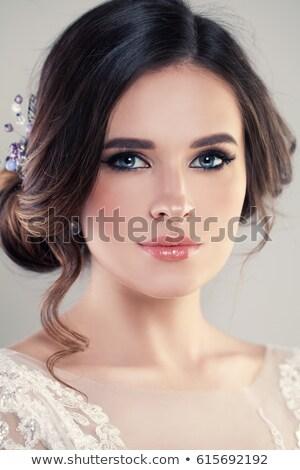 bruid · trouwjurk · romantische · witte · poseren - stockfoto © ruslanshramko