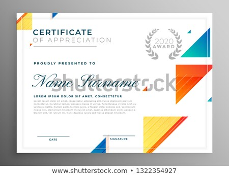 stylish modern certicate of appreciation template design Stock photo © SArts