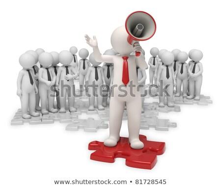 3D grupo de personas jefe líder 3d ilustración Foto stock © ribah