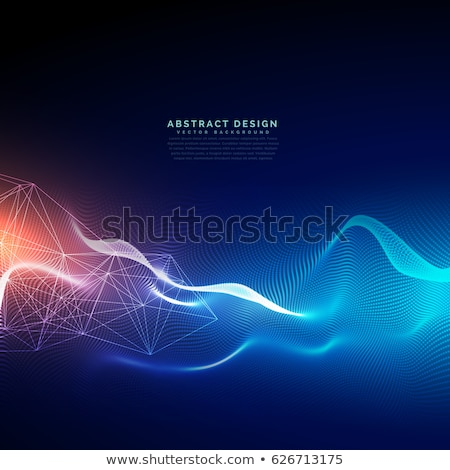 abstract technology particles mesh background stock photo © sarts