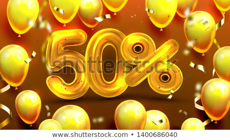 Fifty Percent Or 50 Marketing Xmas Offer Vector Stock photo © pikepicture