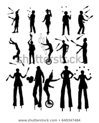 Silhouet illustratie verschillend partij leuk grappig Stockfoto © colematt