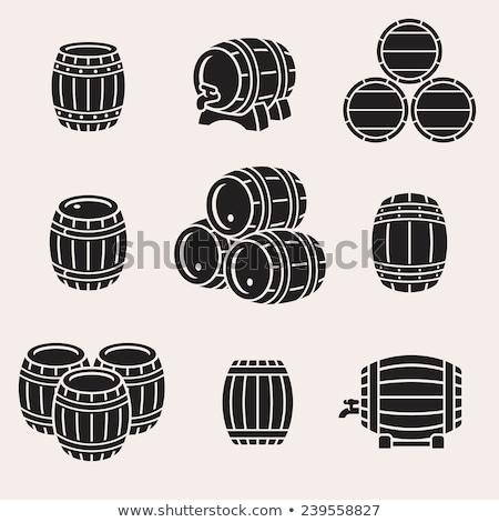 Collection Of Beverage Keg Barrel Cask Set Vector Stock photo © pikepicture