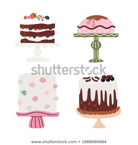 Muffin icon geïsoleerd beige vector illustratie Stockfoto © cidepix