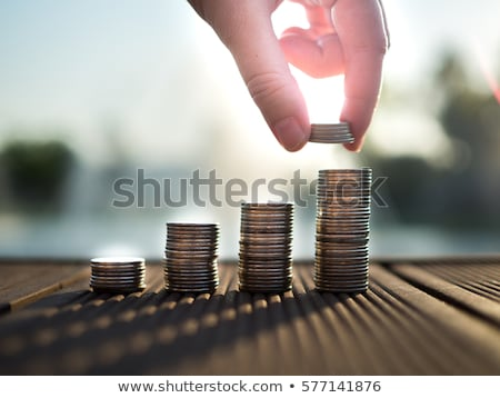 saving accounts people with money dollars coins stockfoto © robuart