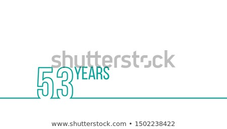 53 years anniversary or birthday linear outline graphics can be used for printing materials brouc stock photo © kyryloff