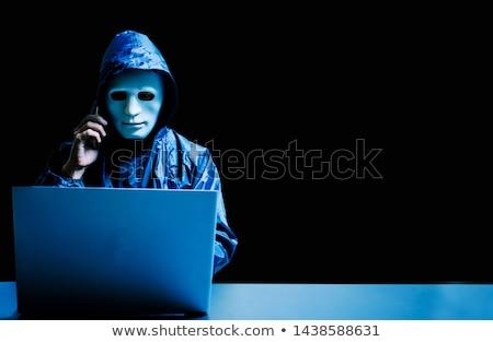 hacker with network using laptop computer Stock photo © dolgachov