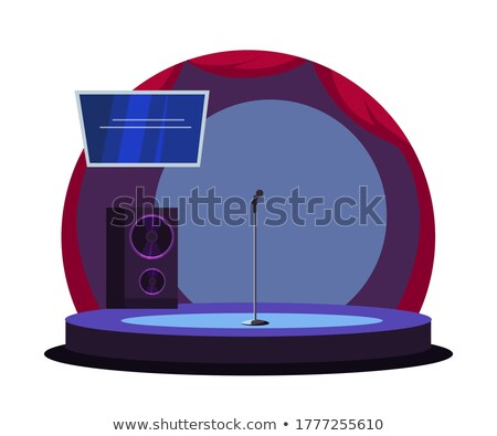Design Interior Of Podium Karaoke Club Vector Stock photo © pikepicture
