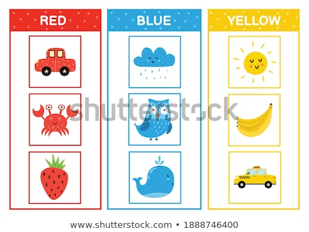 Learn colors - yellow. Coloring page of cute Car for children. Stock photo © natali_brill