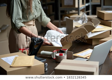 Hand Holding Online Ecommerce Store Open Stock photo © AndreyPopov
