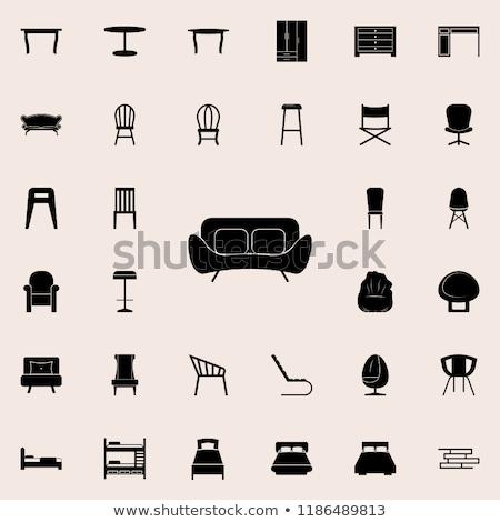 Suave cómodo muebles sillón vector gris Foto stock © robuart