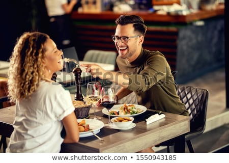 Young couple in a restaurant Stock photo © photography33
