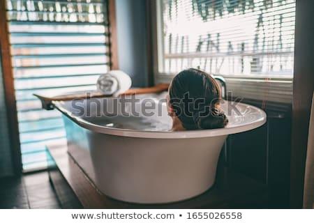 入浴 塩 ブラシ 海 シェル 白 ストックフォト © ShawnHempel