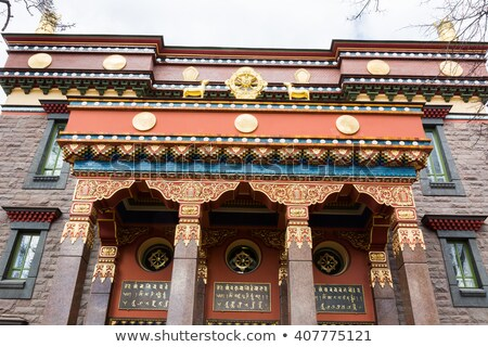 Fragment of buddhist temple Stock photo © timbrk
