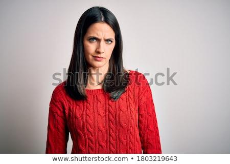 портрет · выразительный · молодые · красоту · женщину · белый - Сток-фото © acidgrey