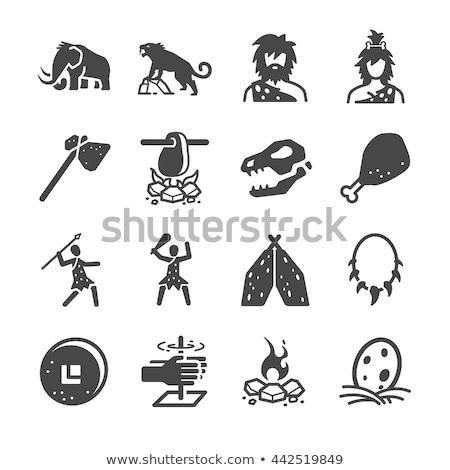 穴居人 アイコン 実例 男 人 男性 ストックフォト © Krisdog