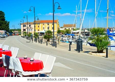 view on quay in novigrad croatia stock photo © joyr