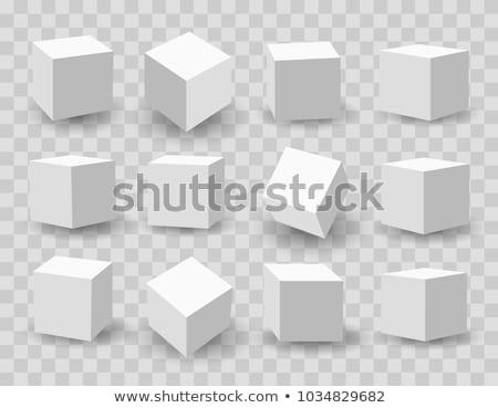 3D küp vektör iş Bina dizayn Stok fotoğraf © burakowski
