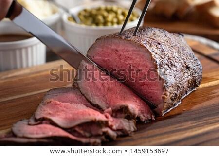 бифштекс · картофель · продовольствие · мяса · стейк · обед - Сток-фото © M-studio