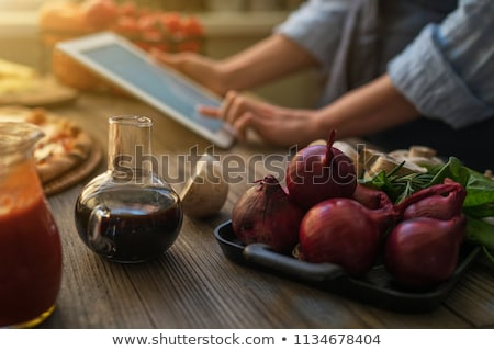 Recipes on a tablet  Stock photo © unikpix