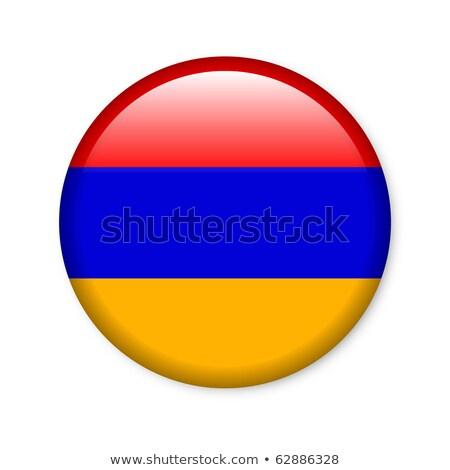 Botão bandeira Armênia metal quadro viajar Foto stock © MikhailMishchenko