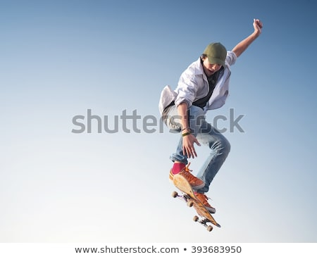 Young man with a skateboard Stock photo © iko