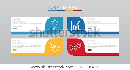 Infographics template with 4 choices layout connected to the center Stock photo © DavidArts