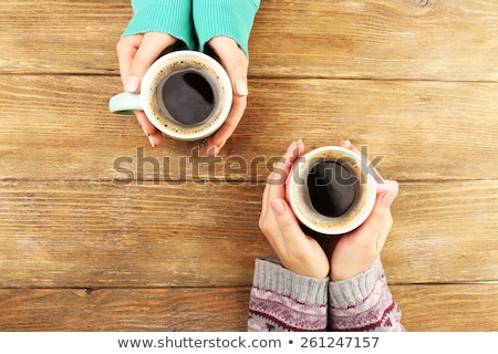 カップ · コーヒー · 画像 · カップ · コーヒー豆 · 正方形 - ストックフォト © MilAlena
