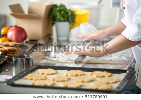 Chef cottura cookies cucina Foto d'archivio © JamiRae