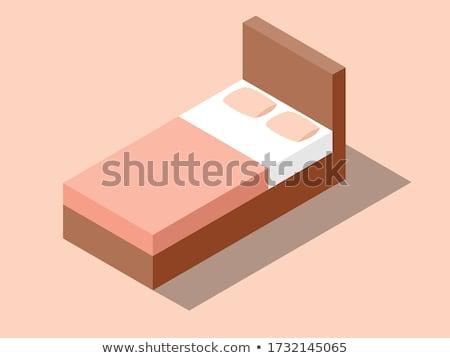 Hotel letto tasti chiave catena Foto d'archivio © madelaide