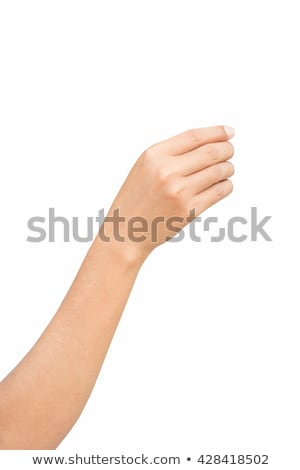 Humans right hand with blank card Stock photo © cherezoff