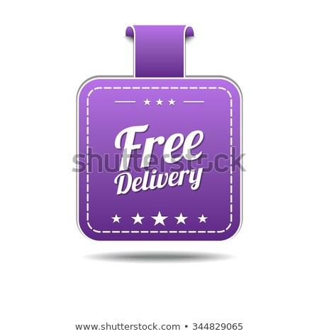 бесплатная доставка фиолетовый вектора икона дизайна цифровой Сток-фото © rizwanali3d