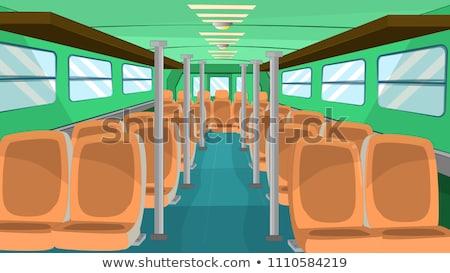 Stock photo: Bus inside
