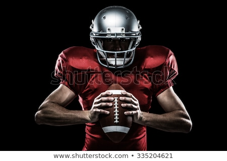 Amerikai futballista néz kamera portré szigorú Stock fotó © wavebreak_media