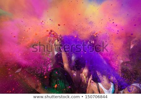 happy holi colors festival Stock photo © SArts