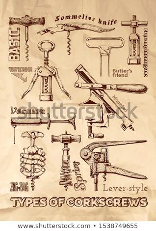 Vintage фундаментальный штопор старые обрабатывать Сток-фото © Digifoodstock