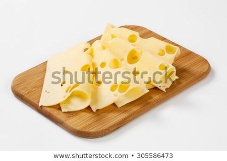 Fino queijo fatias branco Foto stock © Digifoodstock