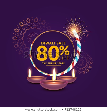 sparkling diwali festival sale background with crackers stock photo © sarts