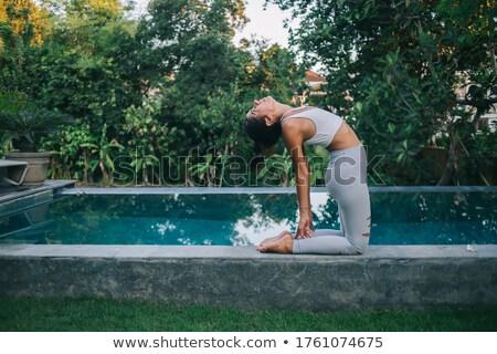 Woman practicing yoga in porch Stock photo © wavebreak_media