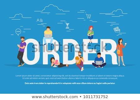Tipo entrega establecer mujeres compras Foto stock © toyotoyo