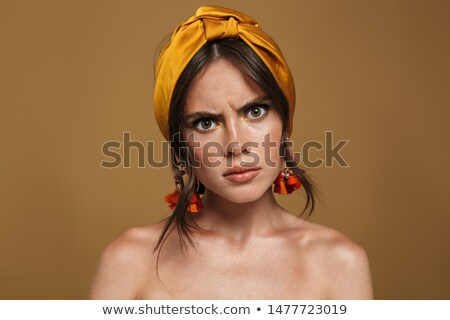 moda · retrato · topless · mulher · bonita · make-up - foto stock © deandrobot