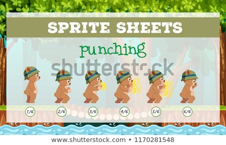 Sprite sheet punching template Stock photo © bluering